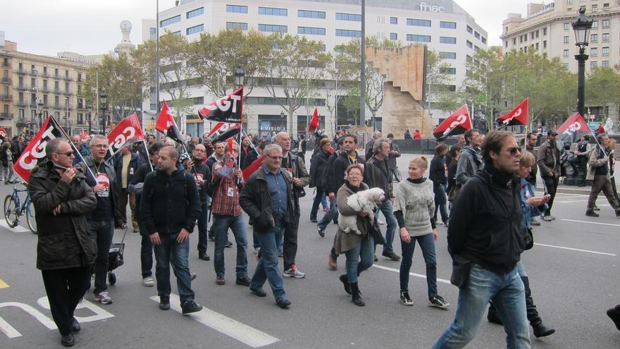 Protesta sindical.