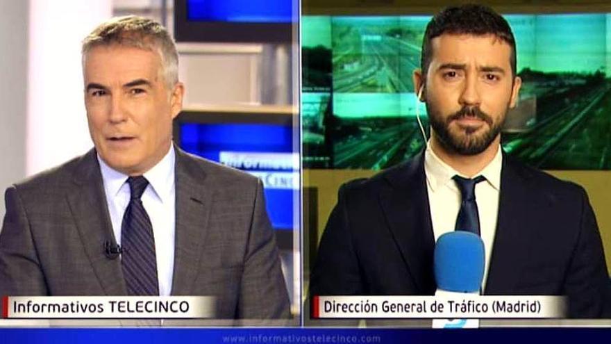David Cantero y Álvaro Berro en 'Informativos Telecinco'