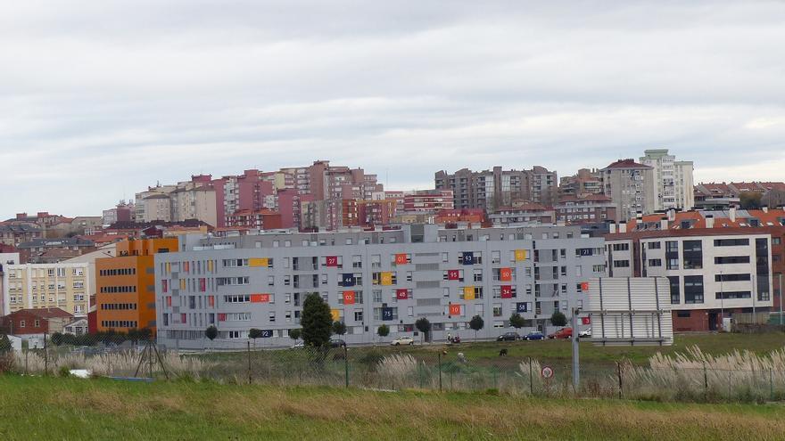 El poblado de Canda Landaburu se situaría tras los primeros bloques de la imagen. Desmemoriados