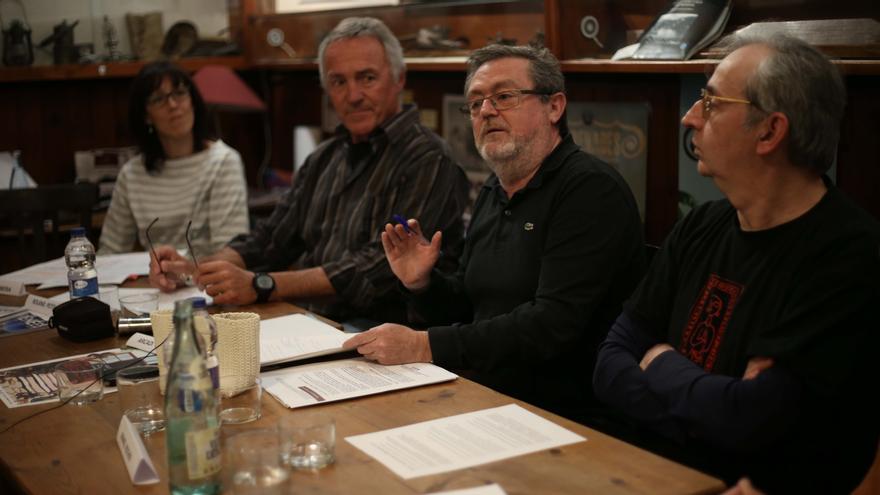 Maria Angels Lobera, Roland Petit, Arcadi Castilló y Manel Rocher en la última edición de Pyrenades.