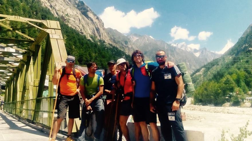 Expedición al Thalay Sagar compuesta por: Alex Txikon, Adrian Legarra, Felix Criado, Txus Lizarraga, Ekaitz Maiz y Daniele Nardi.