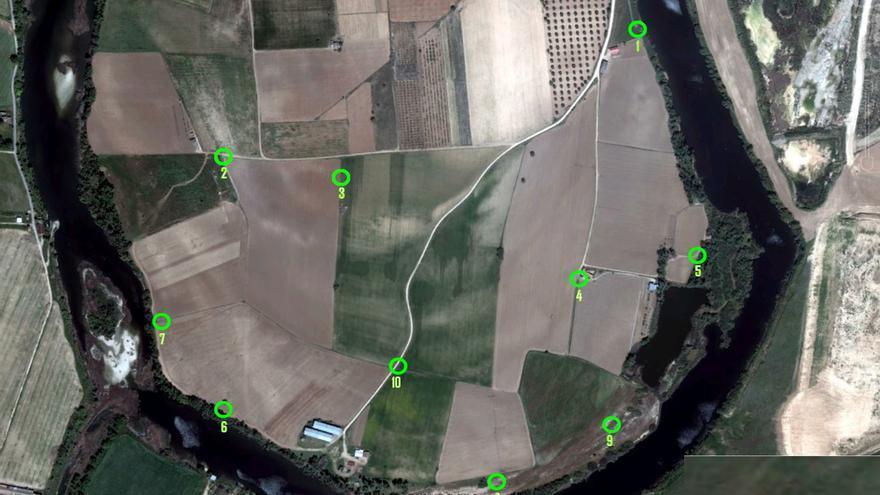 Localización de piezómetros en el Tajo / José Luis Yela