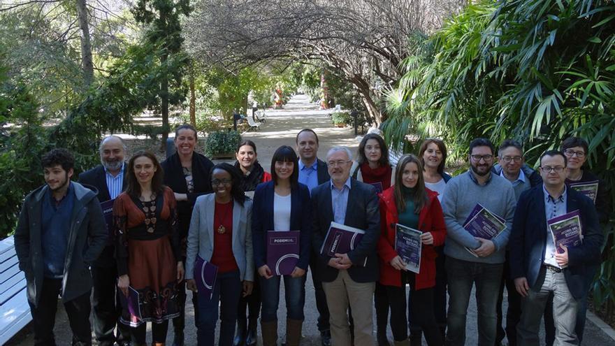 Los representantes de Podemos en las Corts, el Congreso y el Senado