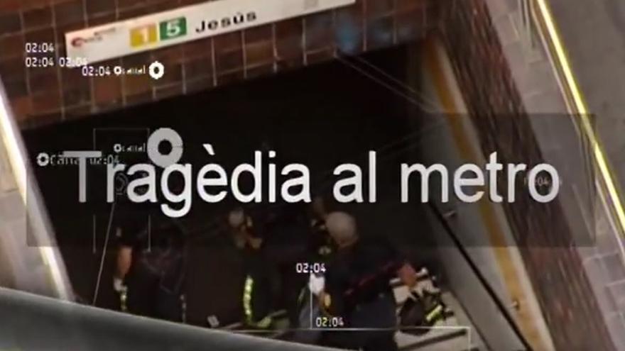 Un fotograma de 'El tren 3736 - tragèdia del metro a València', un reportaje de Canal 9.