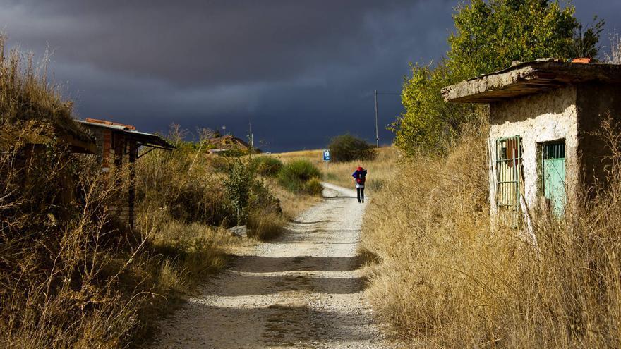 Andadero del Camino de Santiago en las inmediaciones de León.