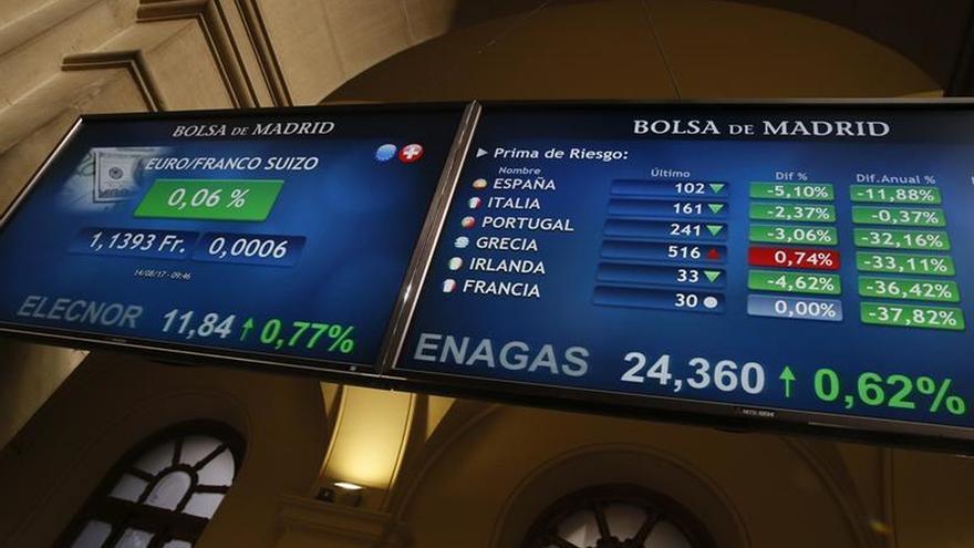 La prima de riesgo española baja a 100 puntos por la subida del bono alemán