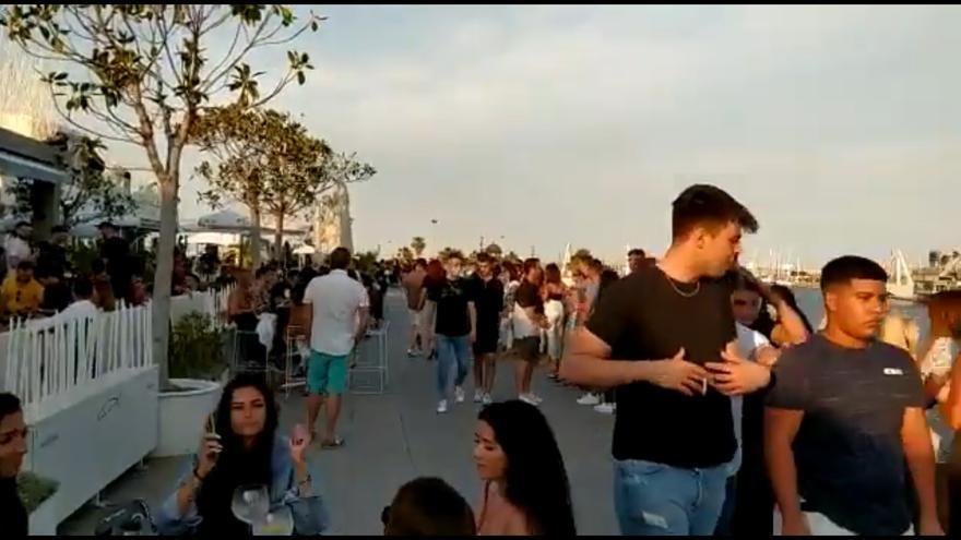 Imagen de la Marina de Valencia el sábado por la trde
