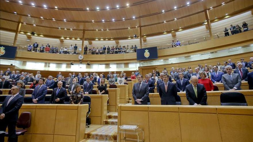 El Senado guarda silencio en homenaje a las víctimas de la violencia machista
