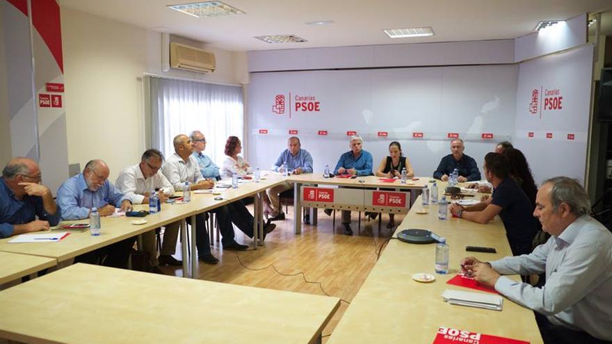 Comisión Ejecutiva Regional en la que José Miguel Pérez ha presentado su dimisión