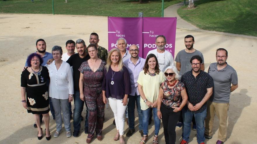 Miembros de la candidatura de Podemos en Córdoba para las municipales del 26M.