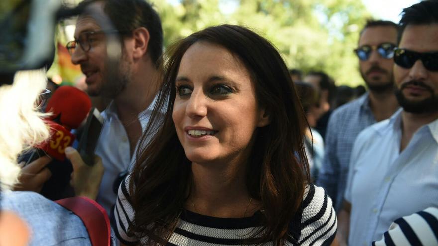 Andrea Levy en el desfile del Orgullo en Madrid