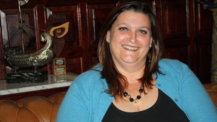 La concejala Gazmira Rodríguez .