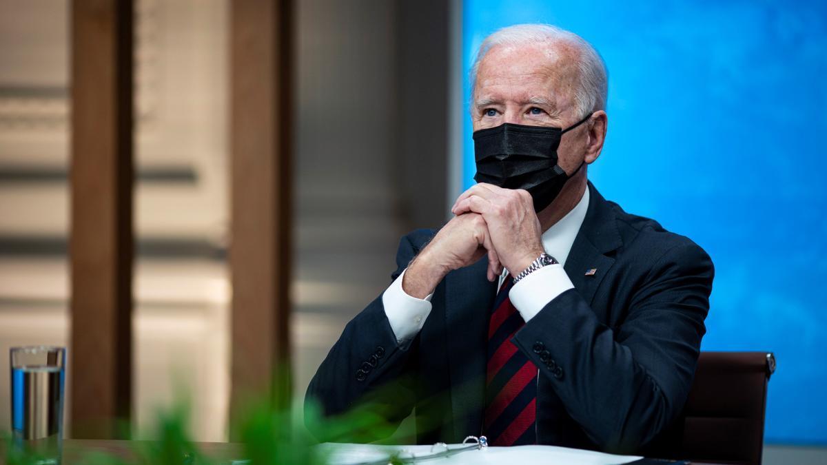 El presidente Joe Biden en la Casa Blanca, durante en la cumbre climática el 22 de abril