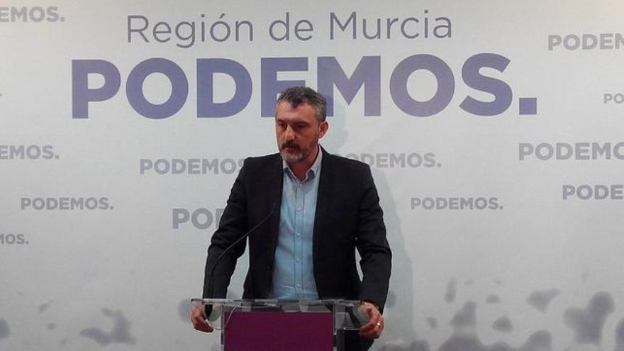 Óscar Urralburu, líder de Podemos en la Región de Murcia