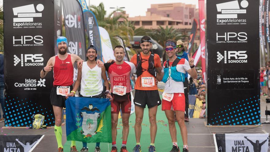 Ganadores masculinos de la Transgrancanaria Maratón.
