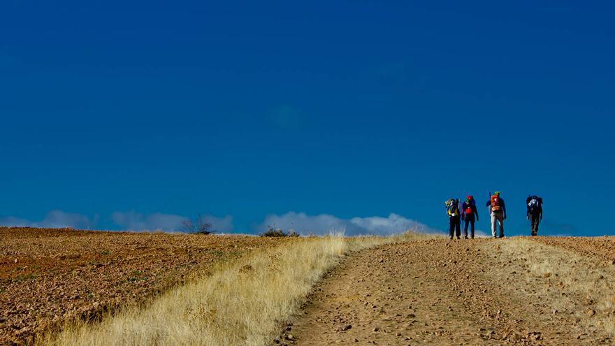 El Camino de Santiago en las inmediaciones de Astorga.