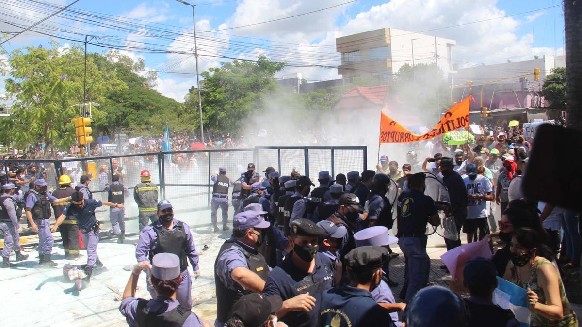 Represión en las protestas en Formosa
