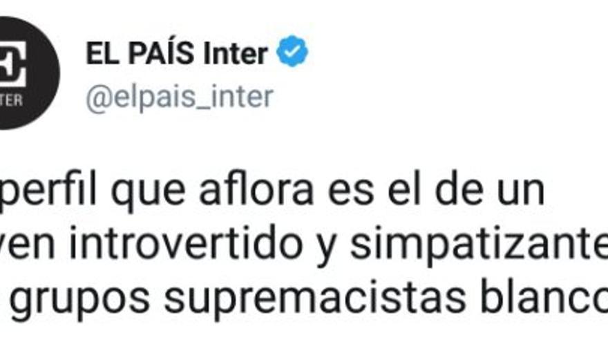 Tweet de El País