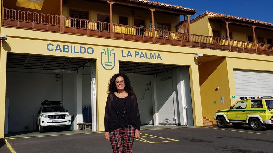 Nieve Rosa Arroyo, consejera de Seguridad y Emergencias y Medio Ambiente del Cabildo Insular de La Palma.
