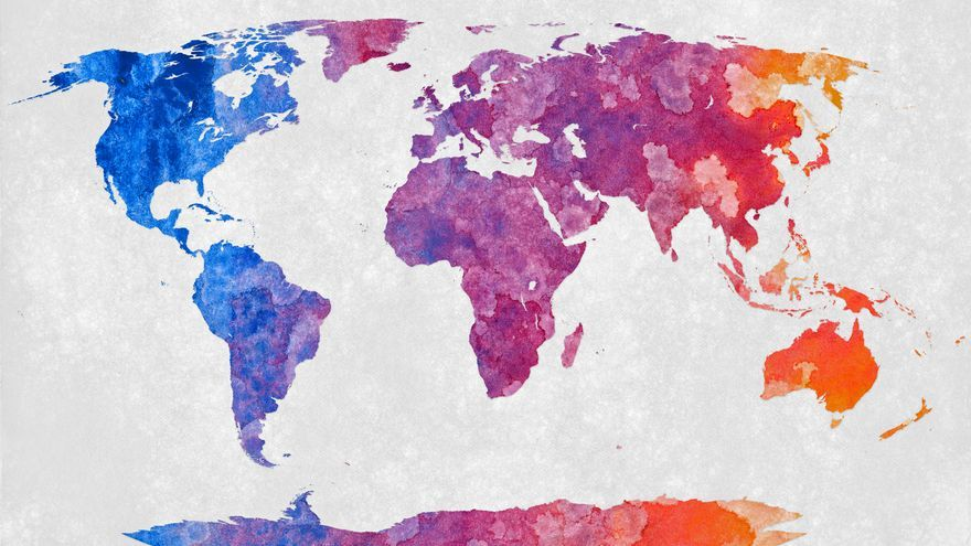World Map - Abstract Acrylic (Copy Left)