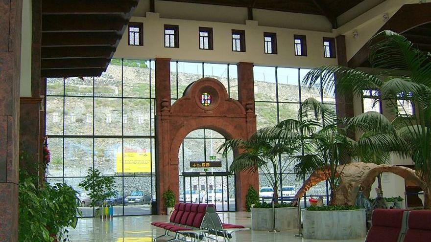 Interior del aeropuerto de La Gomera