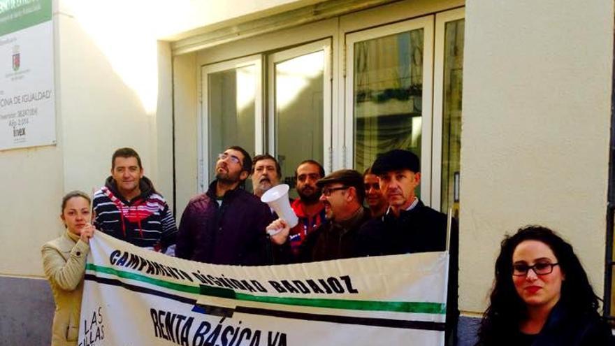 Protesta del Campamento Dignidad en Badajoz