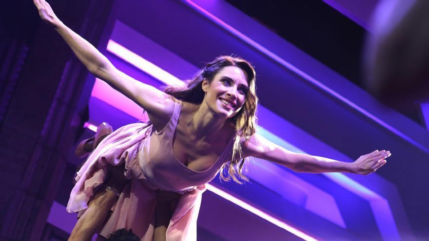 Pilar Rubio, durante el mítico paso de baile de  'Dirty Dancing'