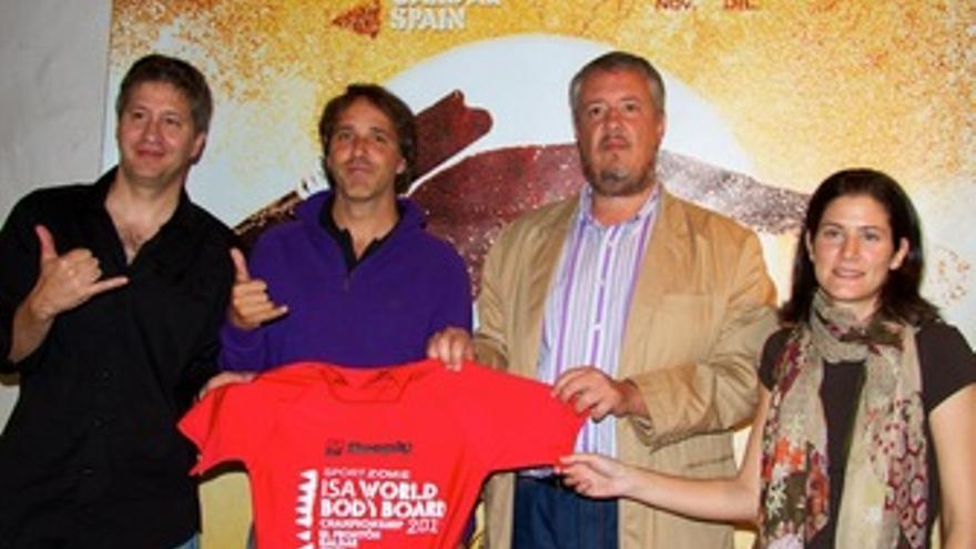Lourenço Chaves, Ángel Lobo, Carlos Ruiz y Laura Caro en la presentación del evento.