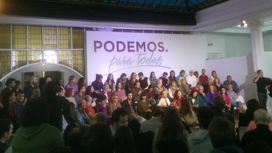 Iglesias lanza su campaña para Vistalegre II arropado por más de 50 cargos en una demostración de fuerza
