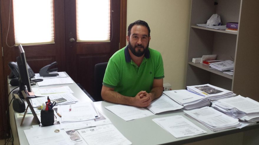 Marcos Lorenzo, teniente de alcalde del Ayuntamiento de Tijarafe y concejal de Obras, Servicios y Urbanismo.