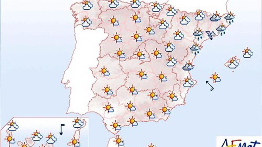 Hoy chubascos y tormentas localmente fuertes en el litoral catalán
