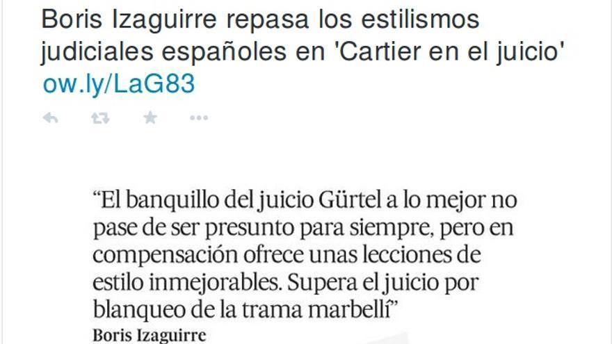 Tuit de El País.