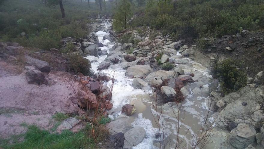 Entrada de agua a la presa de Las Niñas