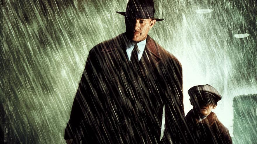 Parte del póster promocional de 'Camino a la perdición'. Twentieth Century Fox.