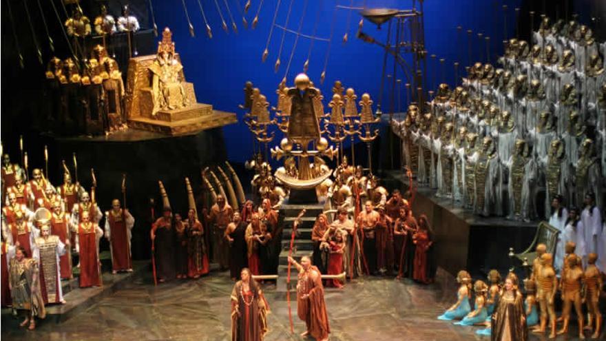 Representación de la obra de ópera 'Aida'