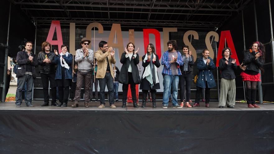 Ada Colau s'ha rodejat de personatges relevants afins a la seva candidatura / ENRIC CATALÀ