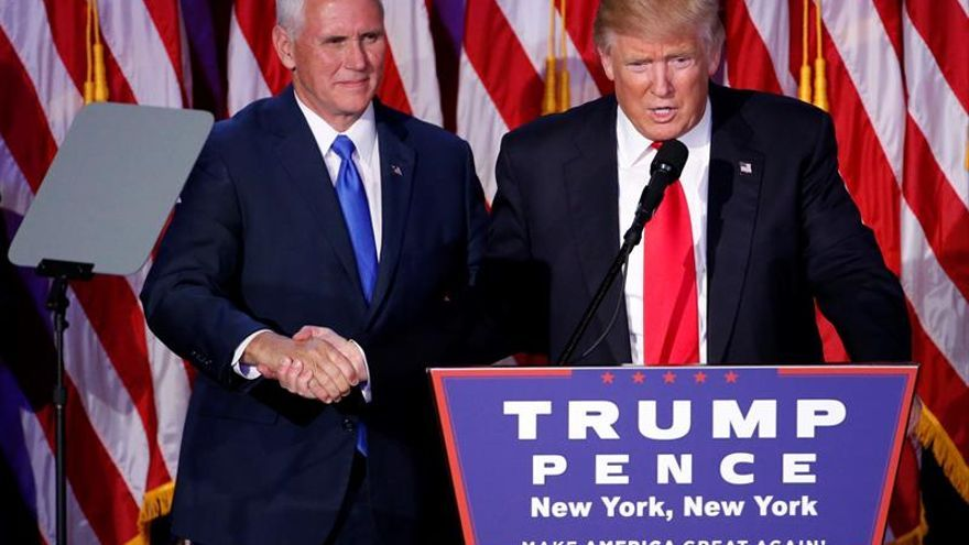 Donald Trump tras su victoria