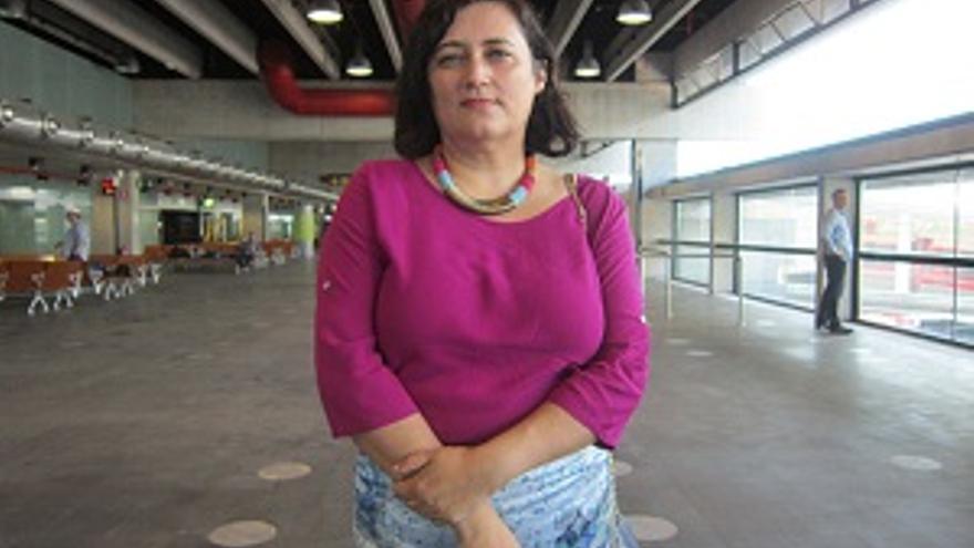 Imagen de archivo de Guadalupe González Taño en el edificio-terminal del Aeropuerto de La Palma.