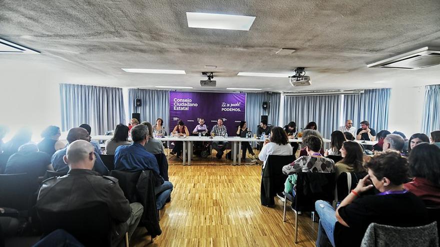 Imagen de archivo de un Consejo Ciudadano de Podemos