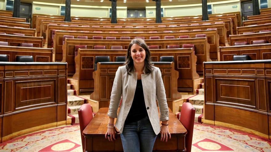 Irene Montero, en el Hemiciclo del Congreso de los Diputados.