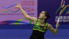 Carolina Marín se tuvo que retirar lesionada en el Open de Hong Kong