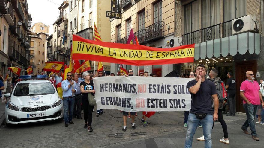 La manifestación, llegando a la Plaza de Zocodover