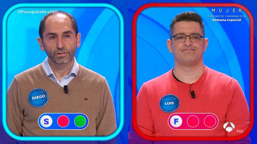 'Pasapalabra' dijo adiós a Luis, eliminado tras 84 programas y un duelo épico con Pablo