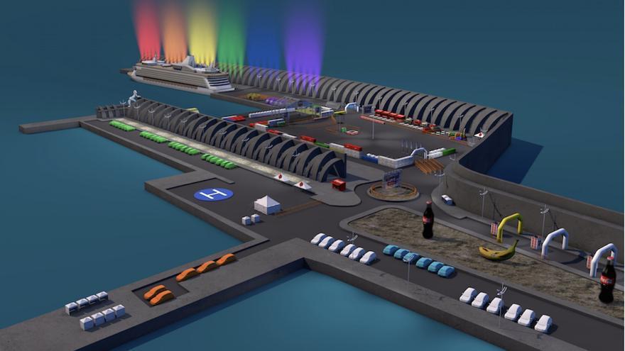 Todo el puerto se transformará un súper recinto que albergará un espectáculo único de 12 horas de duración.