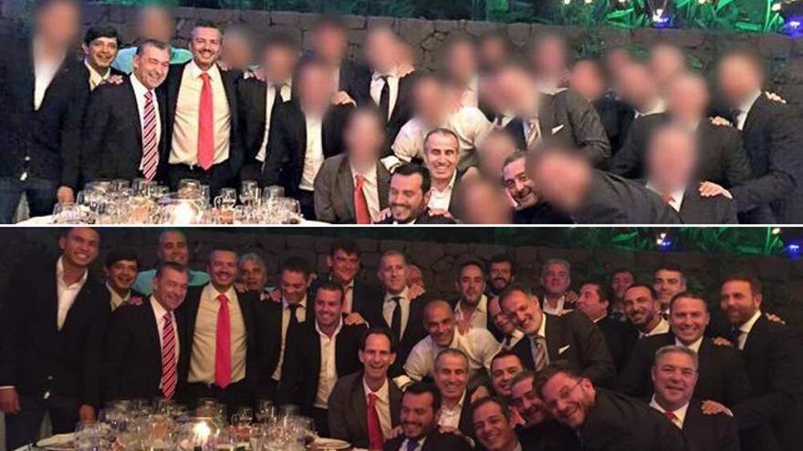 Arriba, la fotografía publicada por 'El Día', borrando a las personas que pudieran truncar las intenciones. Abajo, la fotografía original, en todo su esplendor.