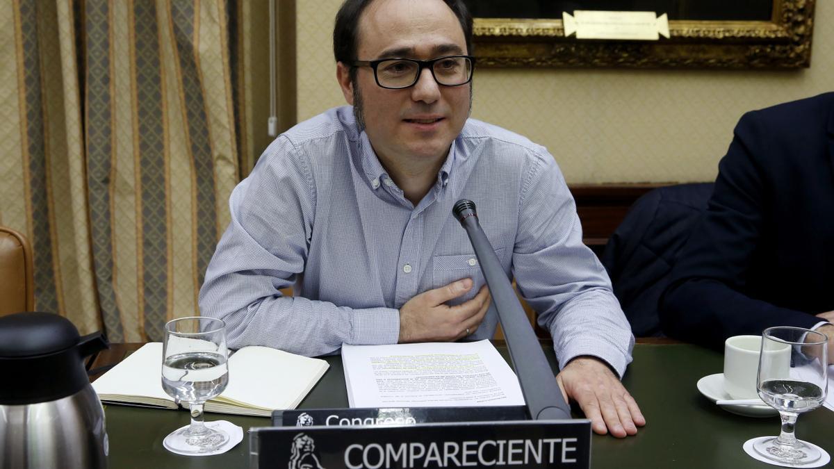 El responsable económico y financiero de Podemos, Daniel de Frutos. EFE/Kiko Huesca/Archivo