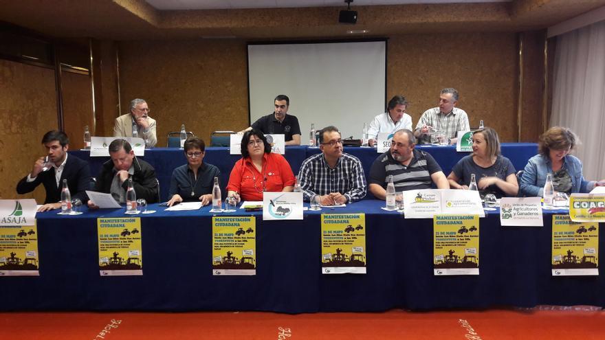 Rueda de prensa en Toledo de los colectivos contra el proyecto minero de tierras raras