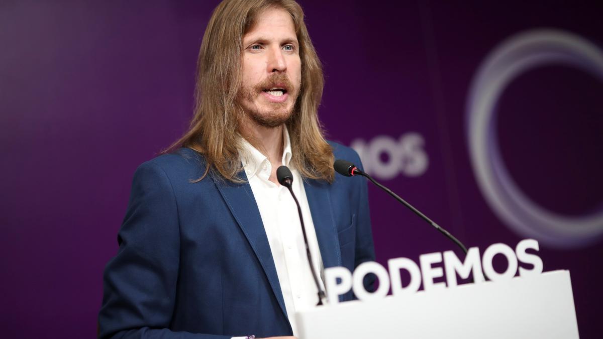 El portavoz de Podemos, Pablo Fernández. EFE/David Fernández/Archivo