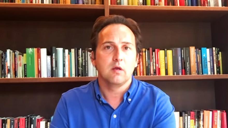 Iker Jiménez, durante su vídeo publicado en defensa de Pedro Baños
