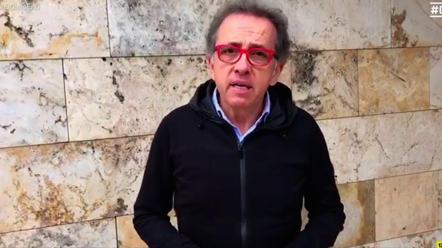 Jordi Hurtado, en el 'funeral' de Juanra Bonet